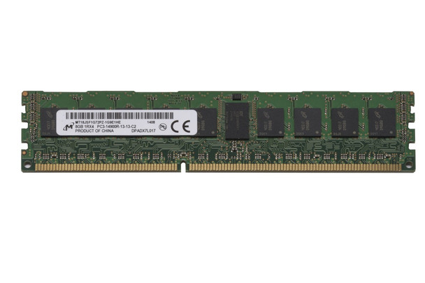 Micron 8GB DDR3 1866MHz PC3-14900 240-Pin ECC Registered DIMM Single Rank Desktop Memory MT18JSF1G72PZ-1G9E1HE