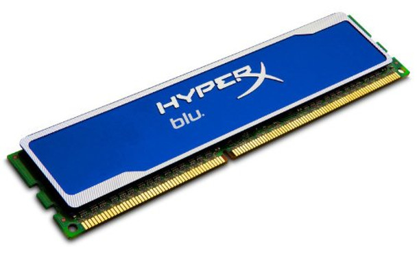 Kingston HyperX Blu 4GB DDR3 1600MHz PC3-12800 240-Pin DIMM non-ECC Unbuffered Dual Rank Desktop Memory KHX1600C9D3B1/4G