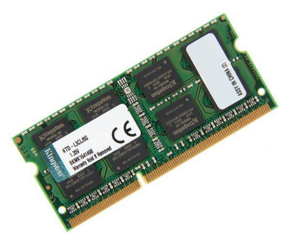 Kingston 8GB DDR3 1600MHz PC3-12800 204-Pin SoDIMM non-ECC Unbuffered 1.35V Dual Rank Notebook Memory KTD-L3CL/8G