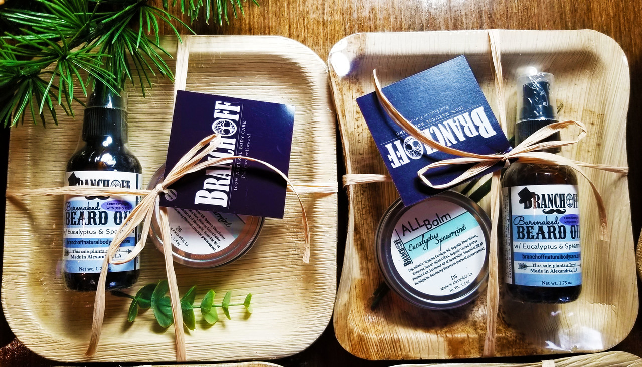 Gift set packaging made with Leaves!