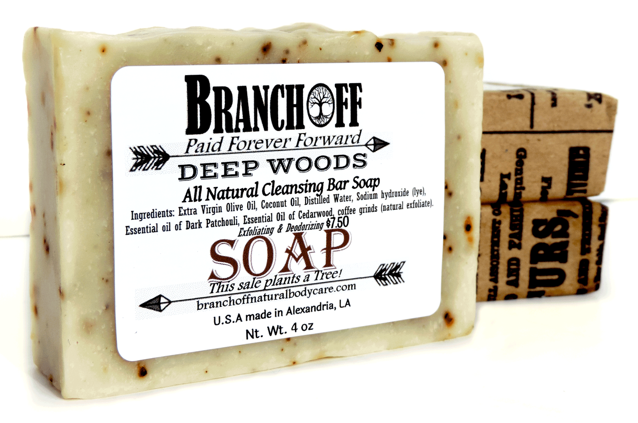 Deep Scrub Patchouli/Cedar Soap