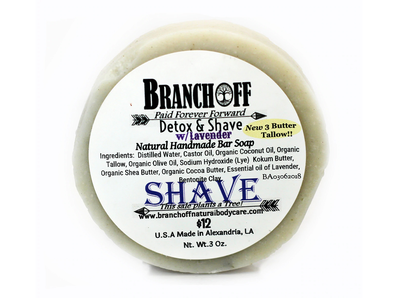 3 Butter Shave Blend! Palm Free!