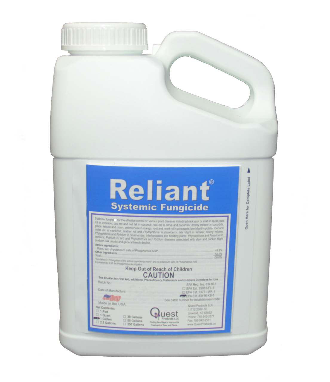 Reliant 1 Gallon 128oz Systemic Fungicide at VivaGrow.com