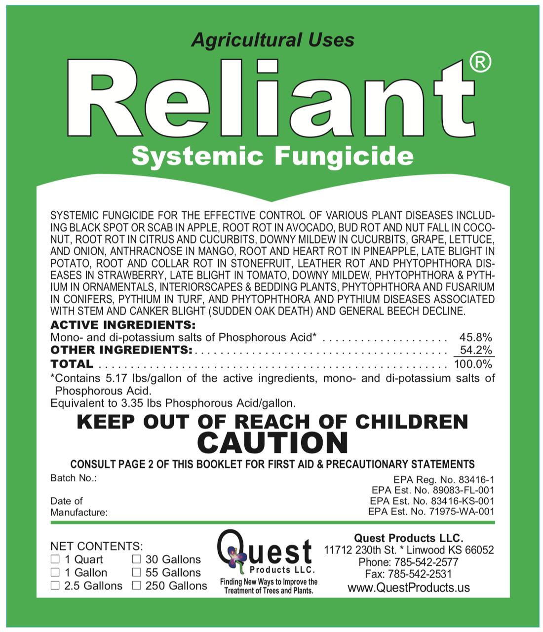 Reliant + Pentra-Bark Sudden Oak Death Combo 1 Quart/4oz  (Agri-Fos/Garden Phos)