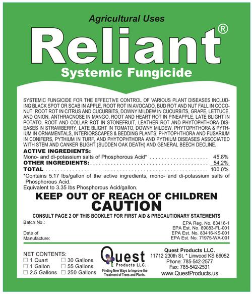 Reliant Systemic Fungicide (Agri-Fos/Garden Phos) - 1 Gallon (128oz)