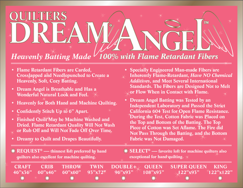 Quilters Dream Angel Select (Mid Loft) Batting-Flame Retardant Batting