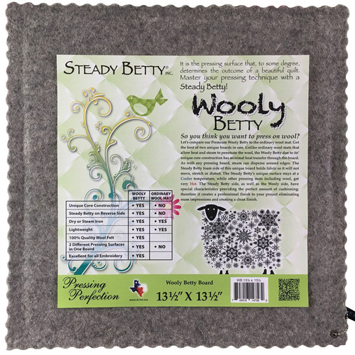 "Wooly Betty - 13.5"" x 13.5"" - Wool Pressing Mat - Steady Betty"