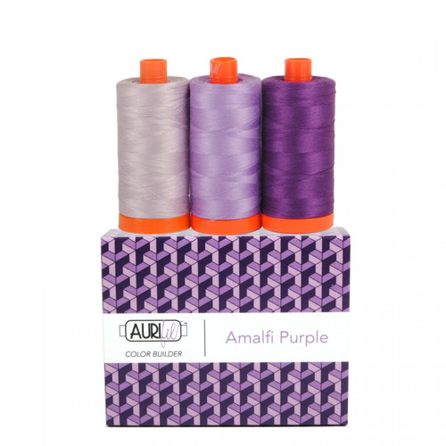 Aurifil Amalfi Purple Mako Color Builder 50wt 3pc Set # AC50CP3-007 Thread