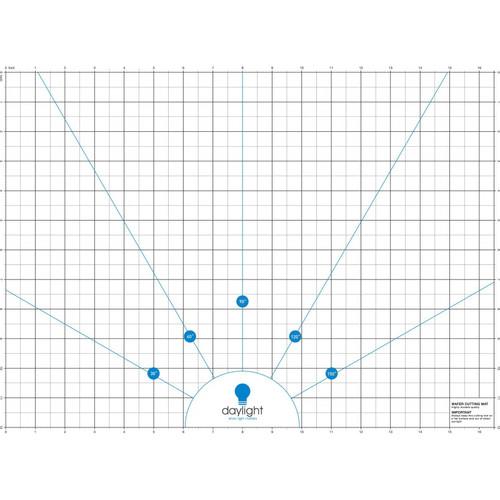 """Wafer 2 Cutting Mat Translucent gridded Mat, 12-1/2"""" x 17"""" - Lightbox Cutting Mat"""