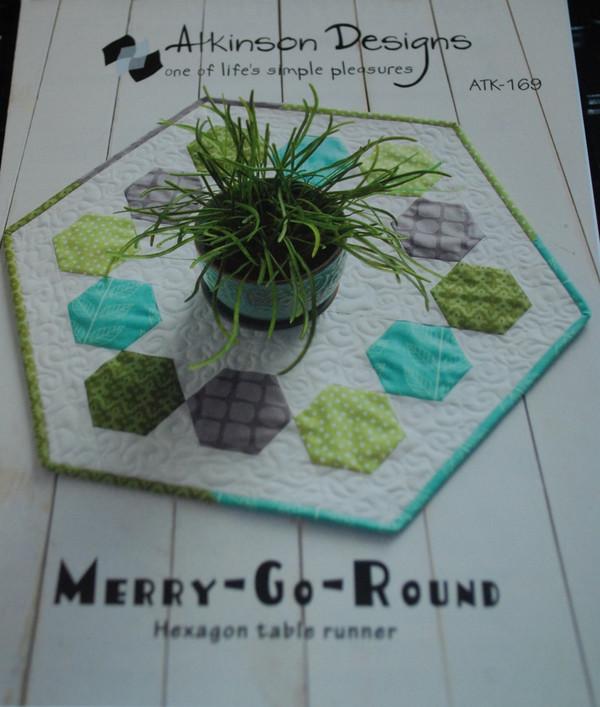 Merry Go Round HexagonTable Runner Atkinson Designs