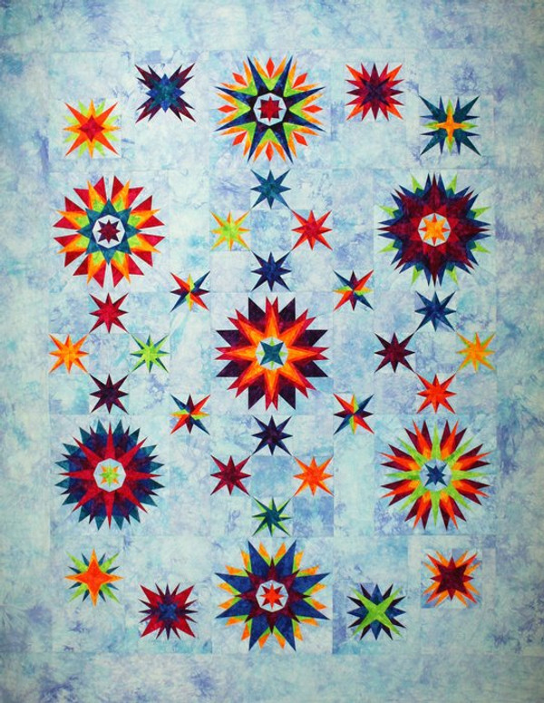 Summer Solstice Quilt Kit-Hand Dyed by Starr Designs-Whole Kit or BOM