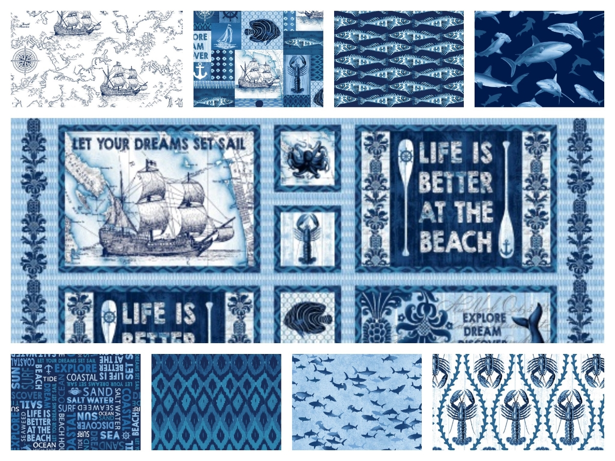 Coastal Indigo Fabrics