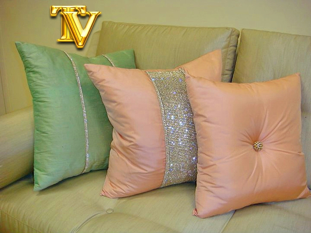 Diamante Throw Pillows