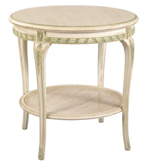 (A) Round end table