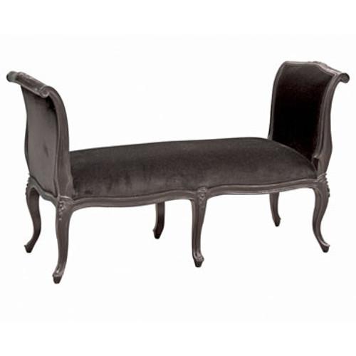 French Bench, Moulin Noir Chateau Black Velvet
