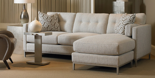 Contemporary Tufted sofa chaise