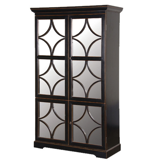 Oriental Black Display Cabinet / Bookcase