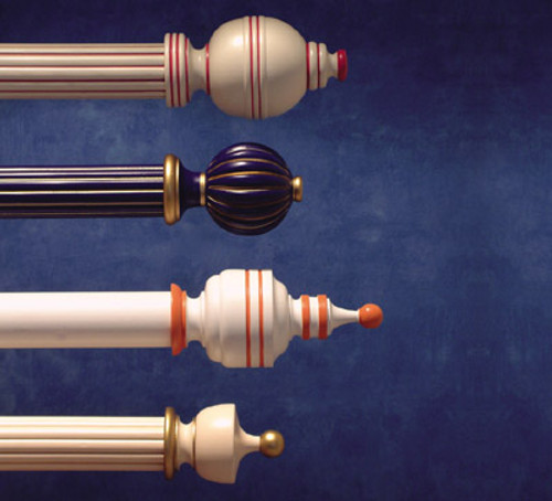 Wood Poles & Finials....Traditional Collection by H & H Colors