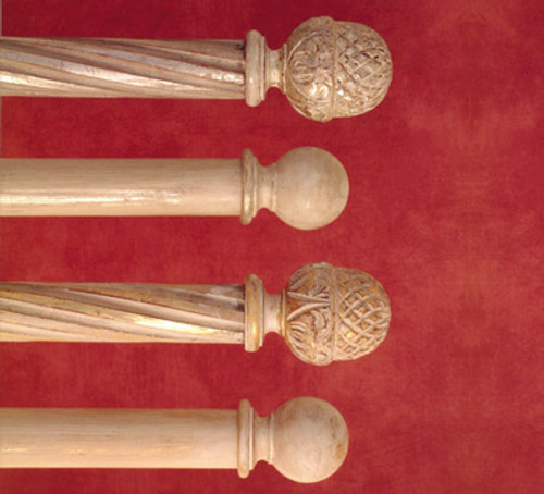 Wood Poles & Finials....Traditional Collection by H & H Gold & Silver