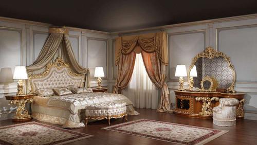 Luxury classic bedroom, Roman Baroque Style