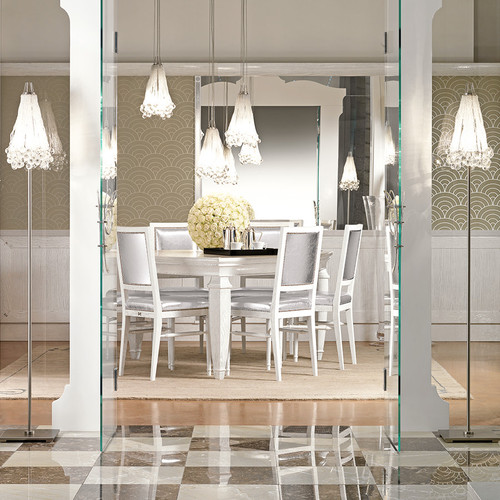French Luxury Dining Table set, White