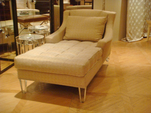 Chaise Lounge, Buttoned Chaise