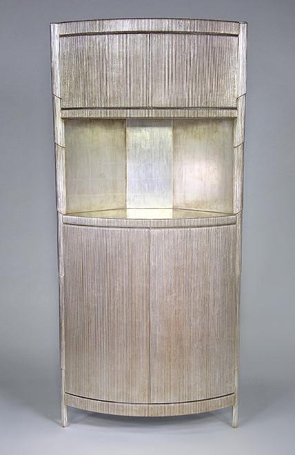 Curtain Cabinet, Silver Leaf, Modern style