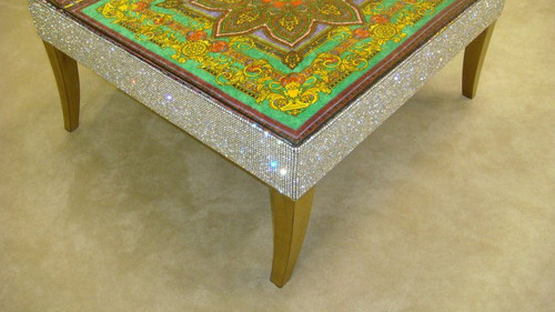 Luxury Coffee Table, The Belgravia Diamante Green & Gold