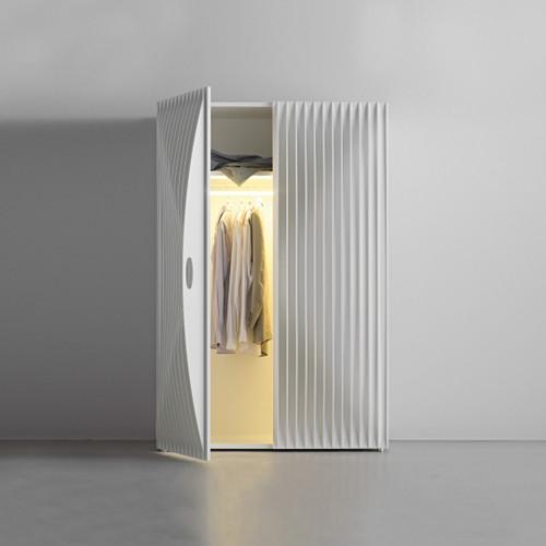 Modern Luxury Armoire, Double Door, White Shown