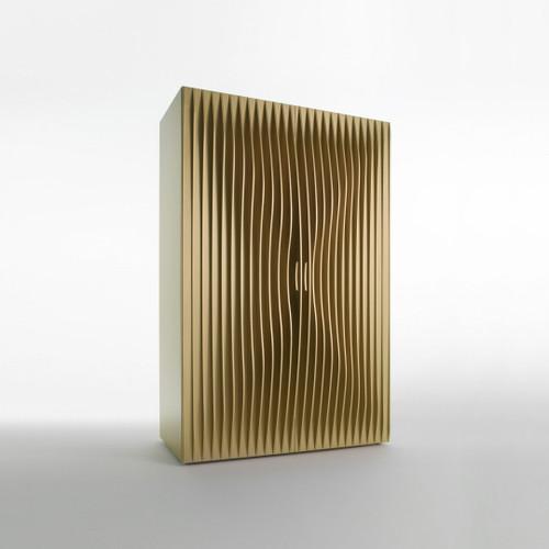 Modern Luxury Armoire, Double Door Shown in Gold