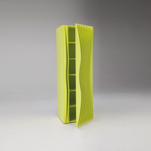 Modern Luxury Armoire, Single Door Shown in Yellow