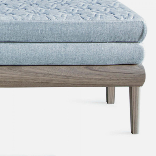 Hampton Bench, Upholstered in Linen