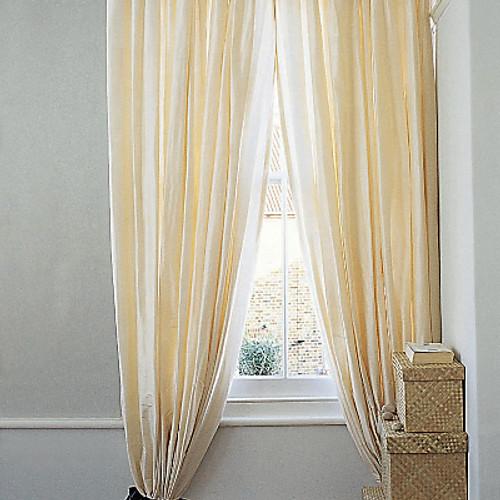 Rod Pocket Curtains, Faux Silk