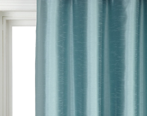 """Faux Silk Curtains for Rod Pocket and Ring Clips, Panel 77"""" wide"""