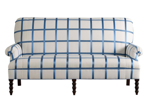 Settee, Blue and White