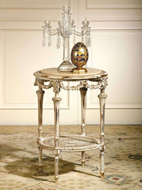 (A)  Louis XVI Round Side Table