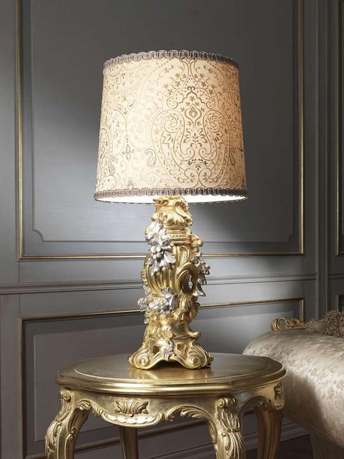 Baroque Lamp, Gold Leaf