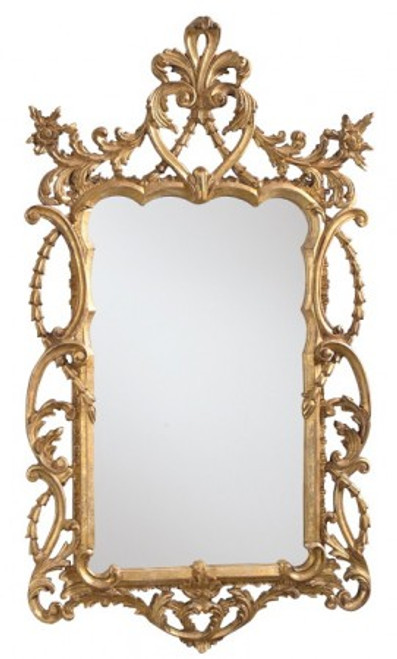 French Mirror, Worn Gold.....READY TO SHIP