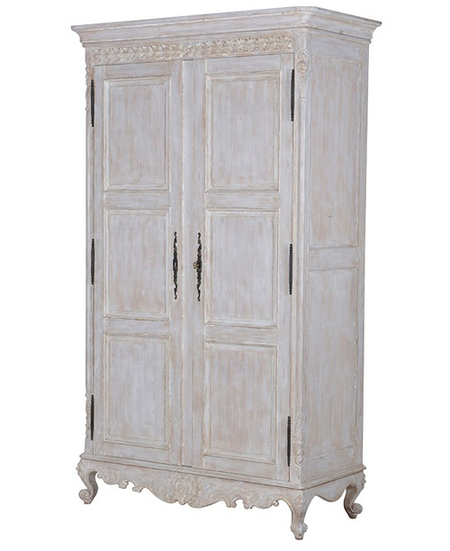 French Armoire, Chateau Whitewashed