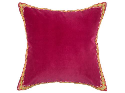 Red Velvet Throw Pillow, Couch Pillows