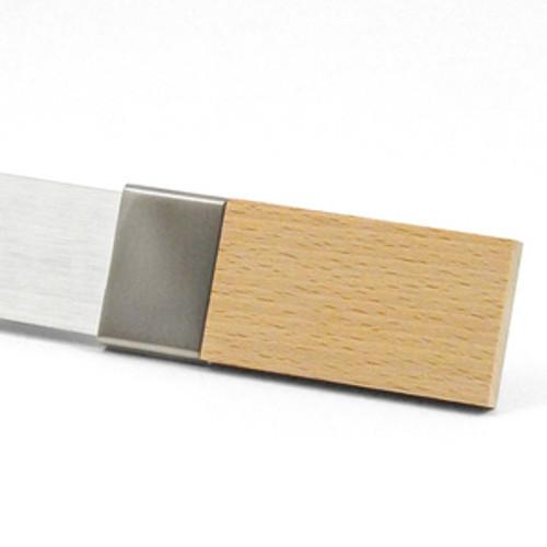 Manhattan Decorative Steel Pole Set, NATURAL WOOD FINIAL