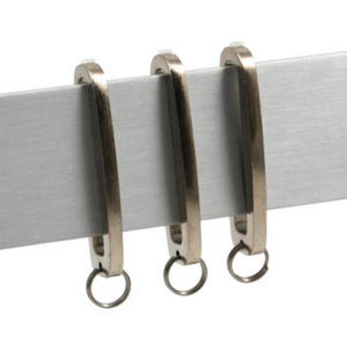 Manhattan Decorative Steel Pole Set, Stainless Steel Finial