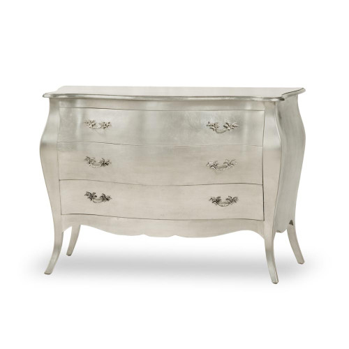 Baroque Glamour Chest (Commode) Silver / 3 Drawer