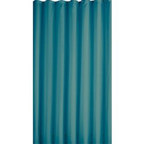 Poly Silk Shower Curtain, Turquoise