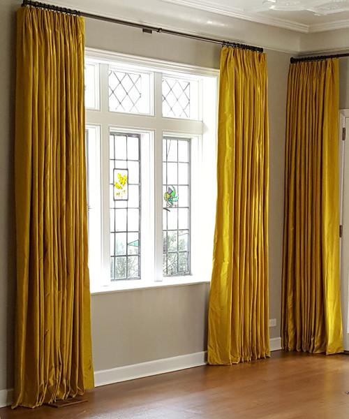 Luxury Silk Dutchess Curtain on a Decorative Pole