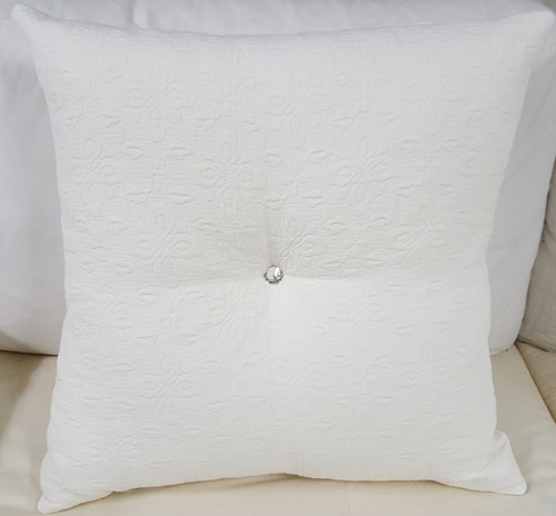 Matelasse Throw Pillow, Charlotte Moss Fabric