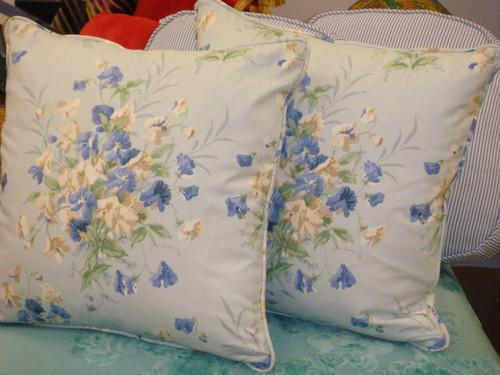 Summer Bouquet Throw Pillow, Fabric by Jane Chruchill