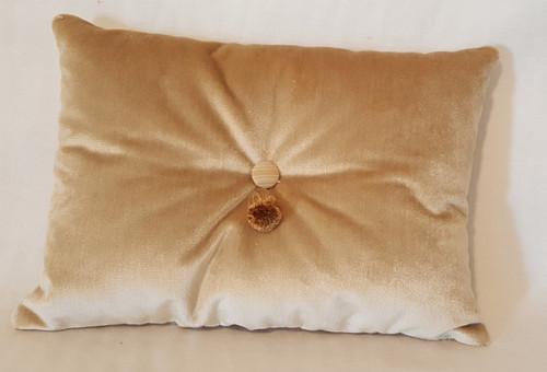 Velvet Boudior Pillow, Beige Ralph Lauren