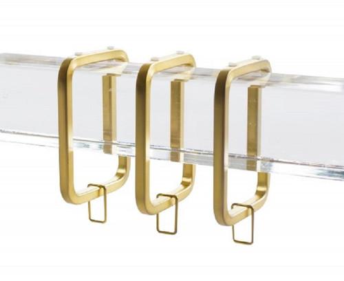 Lucite Window Hardware Set, Satin Gold, 8 Feet