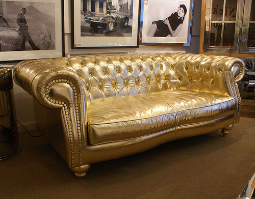 Gold Chesterfield Sofa
